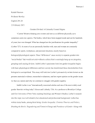 rhetorical analysis of gender role pdf available
