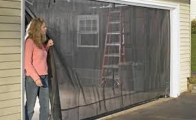 garage door screens retractabledoor  Beautiful Sliding Garage Door Screen Retractable Screens