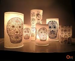 Decorated Candle Jars DIY calaveras candle jar by Ama Ryllis Project Home Decor 34