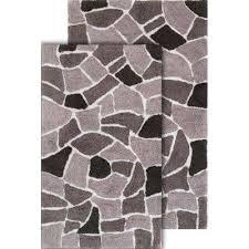 chesapeake merchandising boulder 21 in x 34 in and 24 in x 40 in 2 piece bath rug set in grey