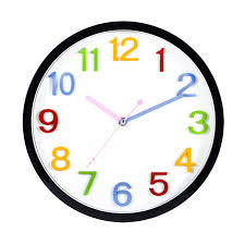 loskii hc 41 decorative accurate time colorful large number display silent quartz hanging wall clock