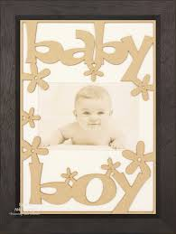 new baby boy gift wooden frame black wood white