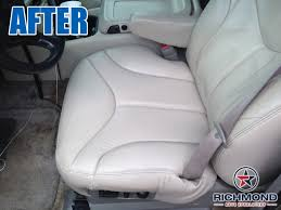 1999 2002 gmc sierra sle slt z71 leather seat cover driver bottom tan