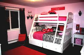 Cute Bedroom Decorating Ideas Styles Small Interior Design With Modern  Style And Accessories Furniture Combination Red Black Bed Cover With Red  And Black ...