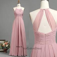 2017 dusty rose bridesmaid dress ruched bodice wedding dress a