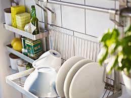 Kitchen: Stainless Steel Wall Mount Dishrack - Drying Organizer