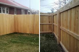 wood fence backyard. Stockade Fencing Does Not Look The Same On Both Sides Wood Fence Backyard