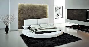 Atlas Modern White Round Bed