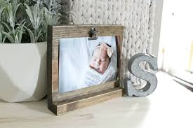 freestanding clip on wooden photo display