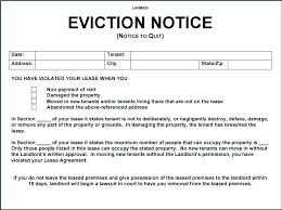 3 Days Pay Or Quit Form Notice To Quit Template Tenant Notice To Vacate Template