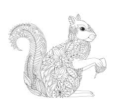 Small Picture squirrel Artist Johanna Basford Enchanted Forest Coloring pages
