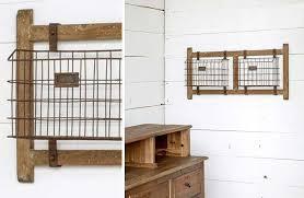 wall mounted basket rack rustic farmhouse