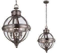 elstead feiss adams 3 light pendant chandelier antique nickel fe adams 3p