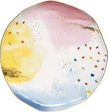 <b>Тарелка</b> Easy Life <b>Брызги</b> красок, EL-R1583/SPLA, диаметр 26 см ...