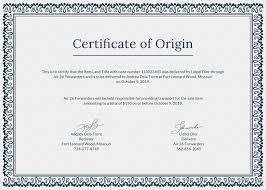 Certificate Of Origin Template Free Certificate Of Origin Template In PSD MS Word Publisher 7