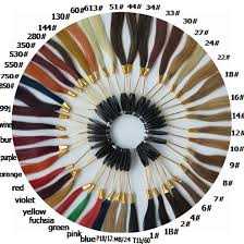 Color Chart For Hair Color Us 169 46 18 Off Free Shipping Harmony Wholesale 46colors Color Chart Hair Color Ring For Salon And Hair Extensions 7sets Lot In Color Rings From