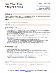 truck driving resumes class a truck driver resume samples qwikresume