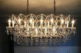 19th century rococo iron crystal chandelier restoration hardware c