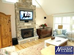 stone fireplace with tv mount on stacked stone fireplace ideas stone wall fireplace tv