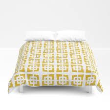mid century modern pattern 272 mustard