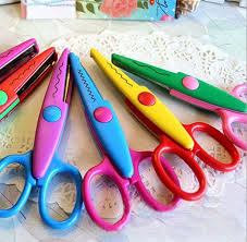 Pattern Scissors Extraordinary Lace Pattern Scissors Serrated Scissors DIY Photo Album Tool On Storenvy