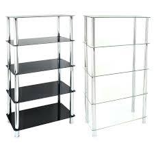 glass shelving unit ikea 5 tier shelf