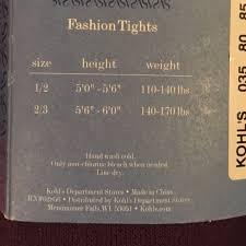 Vera Wang Size Chart Kohl S Simply Vera Sweater Tights Bundle