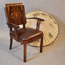 art deco office chair. art deco desk chair office side armchair leather u0026 coromandel ebony top quality