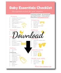 list of items needed for baby the baby essentials and registry checklist new love
