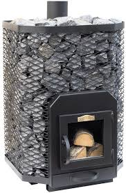 stoveman wood burning stove 24 angular with glass door 16 24m3 incl free sauna stones nordichomeware com