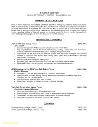 Culinary Resume Templates New Examples Personal Skills Resume ...