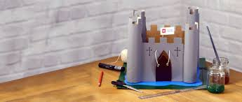 Castle Designs For School Projects How To Make A Cardboard Castle English Heritage