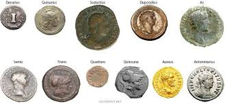 Chart Showing Relative Sizes Of Various Ancient Roman Coins