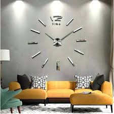 frameless wall clock giant wall clock big wall clock home decor large wall clock diy large frameless wall clock