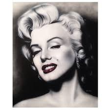 large oil on canvas marilyn monroe painting signed and dated for