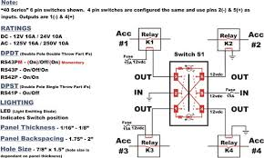 pin rocker switch wiring diagram image wiring 6 pin rocker switch wiring diagram 6 wiring diagrams on 4 pin rocker switch wiring