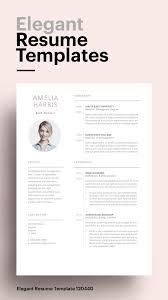 Modern Sleek Resume Templates Modern Resume Template 120440 Simple Resume Template