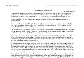 tempest essay gcse drama marked by teachers com document image preview