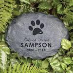 Image result for dog garden stone