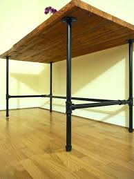 pipe frame desk wood desk kitchen dining table with black galvanized steel pipe legs diy