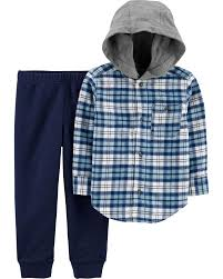 Carters Toddler Boy Size Chart 2 Piece Plaid Flannel Jogger Set Carters Com
