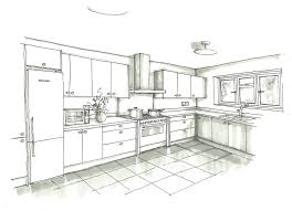 interior design kitchen drawings. Contemporary Interior Interior Design Sketches Kitchen New At Excellent In Simple With Drawings C