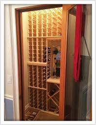 lots of individual and bulk bottle storage space