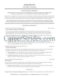Sample General Manager Resume The Resume Collection