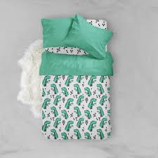 kids bedding sets. Boy Toddler Bedding Sets - Green Dinosaur- Duvet Cover Kids Pillow