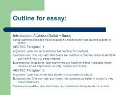 how to write an effective introduction by mrs mckinney ppt  outline for essay introduction attention getter thesis school start times should be moved