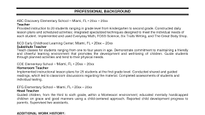 Skills For Early Childhood Education Resume Related For 7