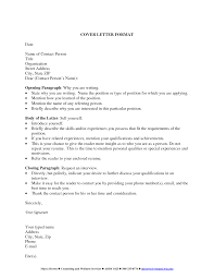 Cover Letter Title Examples Best Letter Sample