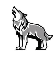 wolf howling drawing head. Interesting Head Black Wolf Howl Emblem Vector  Inside Wolf Howling Drawing Head L