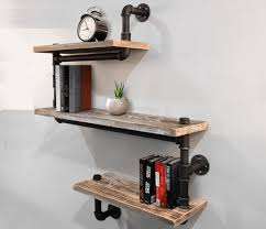 the classy shelf is perfect for the home or coffee house interior the 3 level rustic industrial pipe shelf is made out of quality metal pipe and solid